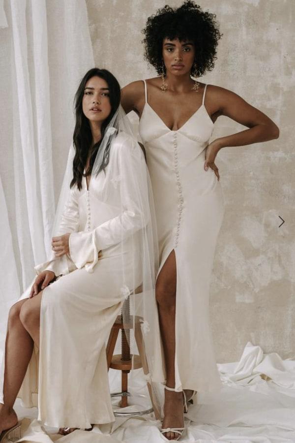 Image 5 of Shona Joy la lune bias slip dress