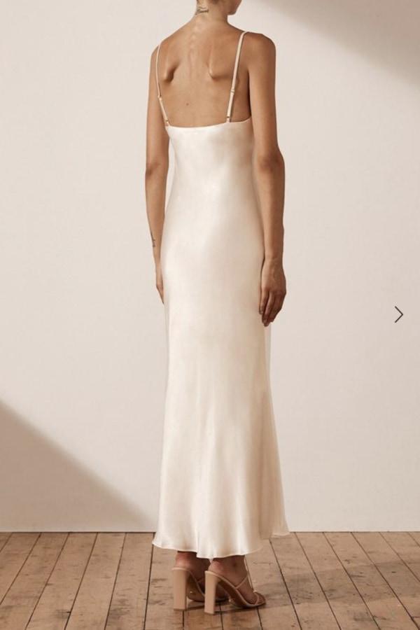 Image 4 of Shona Joy la lune bias slip dress