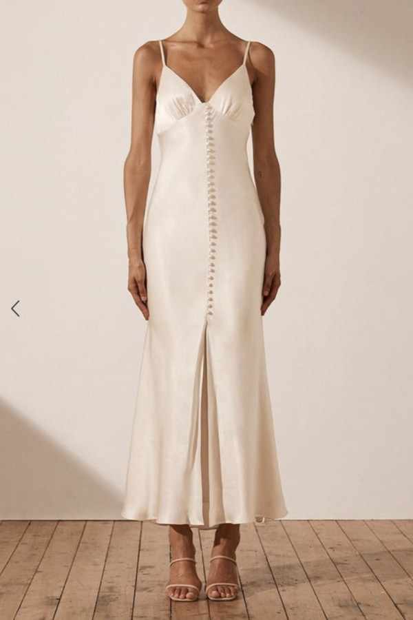Image 2 of Shona Joy la lune bias slip dress