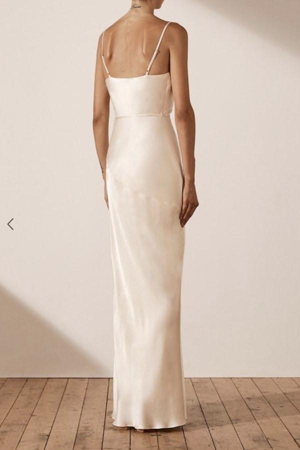 Image 4 of Shona Joy la lune bias cowl dress