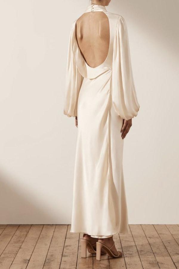 Image 4 of Shona Joy la lune open back maxi dress