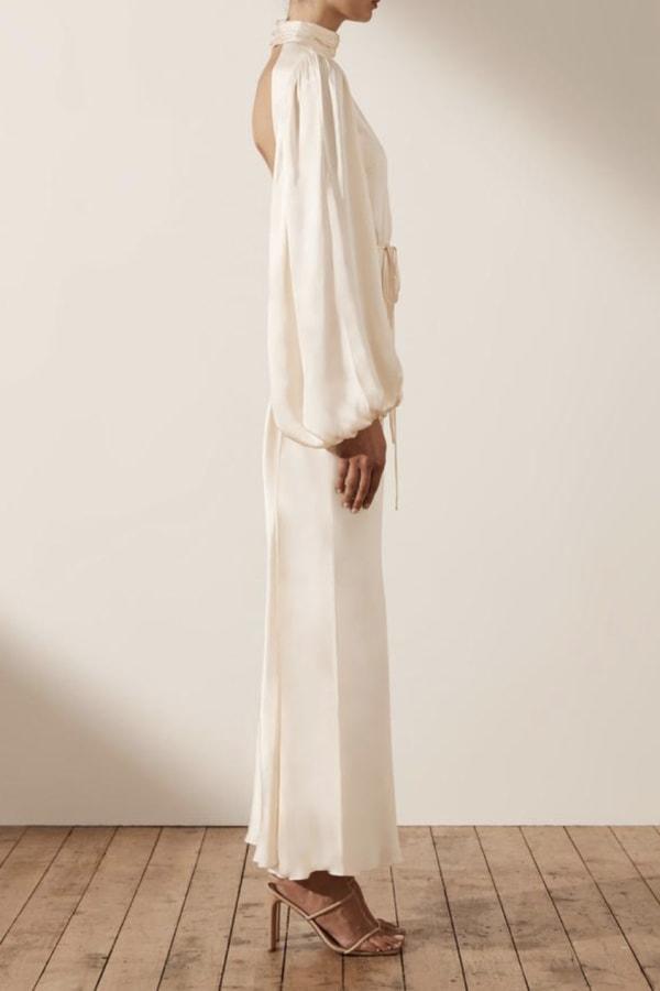 Image 3 of Shona Joy la lune open back maxi dress