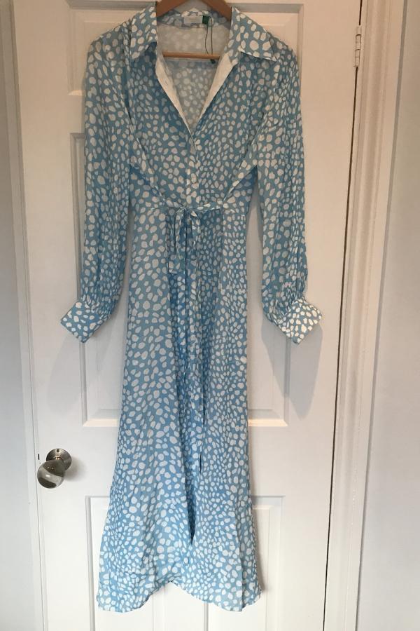 RIXO London Maddison printed satin shirt dress 2
