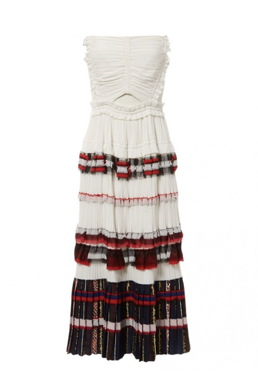3.1 Phillip Lim Pleated Cream Dress Preview Images