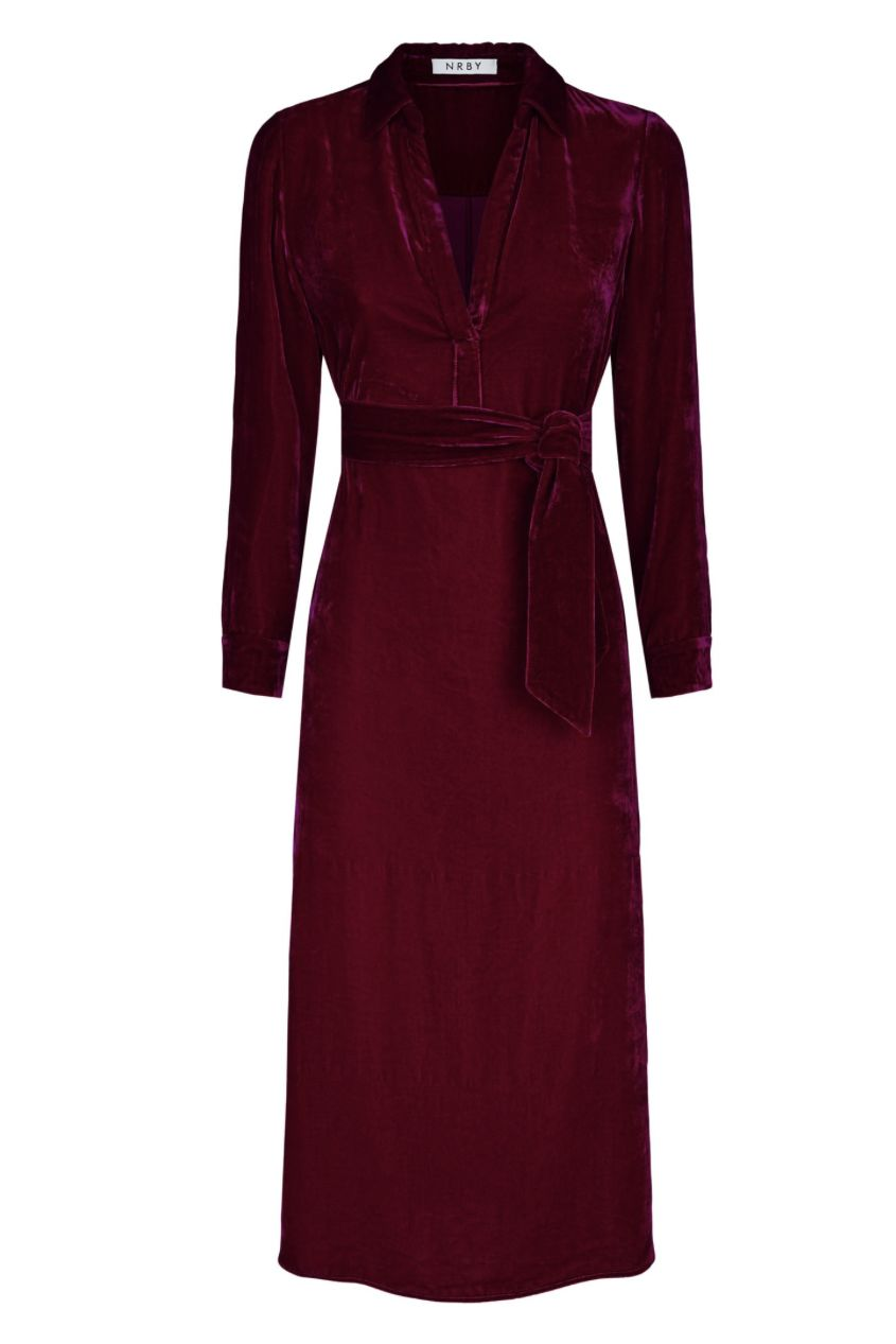NRBY Chrissie Velvet Shirt Dress Preview Images