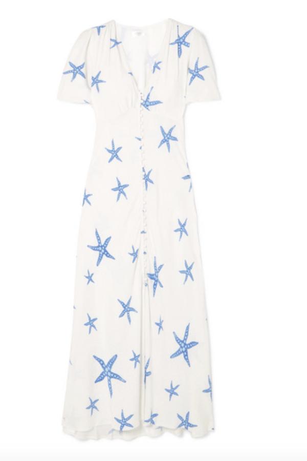 RIXO London Jade printed crepe midi dress