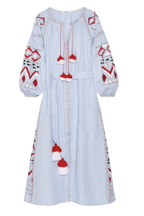 March11 Kilim embroidered maxi dress