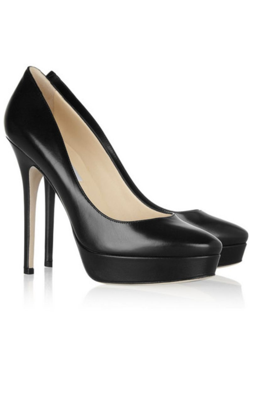 Jimmy Choo Black Leather 247 Cosmic Pumps Preview Images
