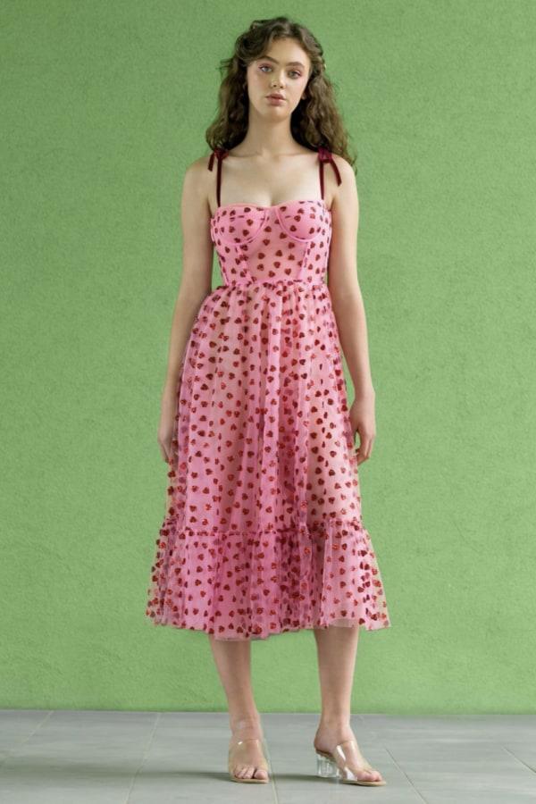 Image 2 of Lirika Matoshi hearty corset midi dress