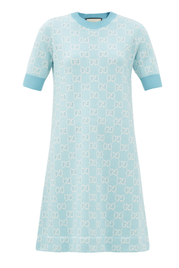 Gucci GG-jacquard wool mini dress 0 Preview Images