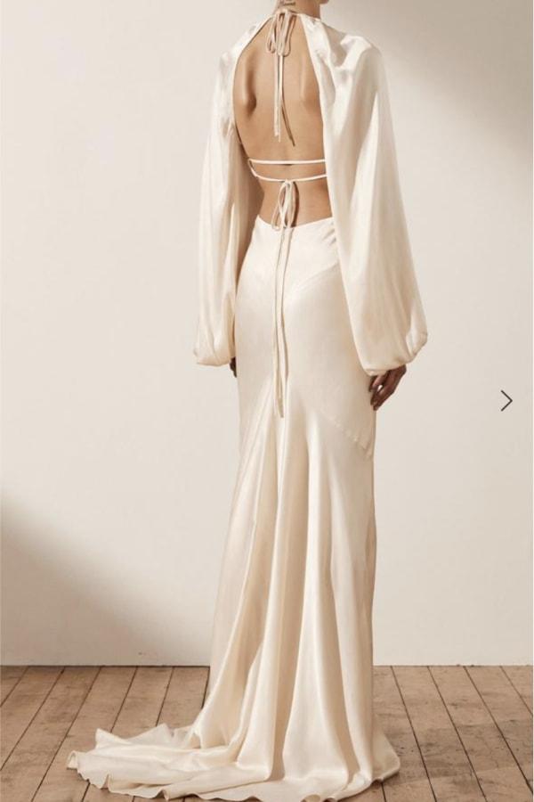 Image 4 of Shona Joy la lune balloon sleeve dress