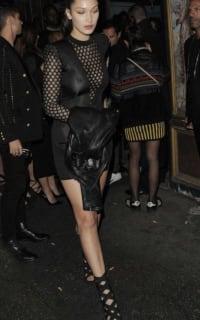 Balmain Sheer-Panelled Black Mini Dress 3 Preview Images