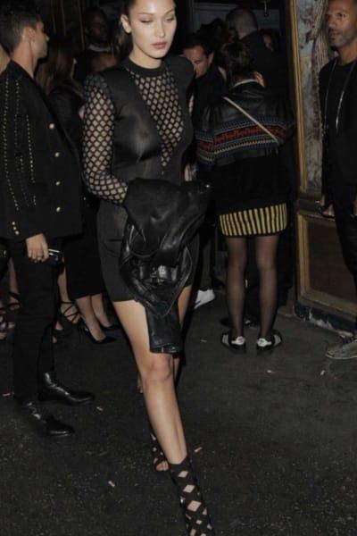 Balmain Sheer-Panelled Black Mini Dress 3