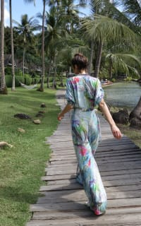 Matthew Williamson Atlas Silk Palazzo Jumpsuit 2 Preview Images