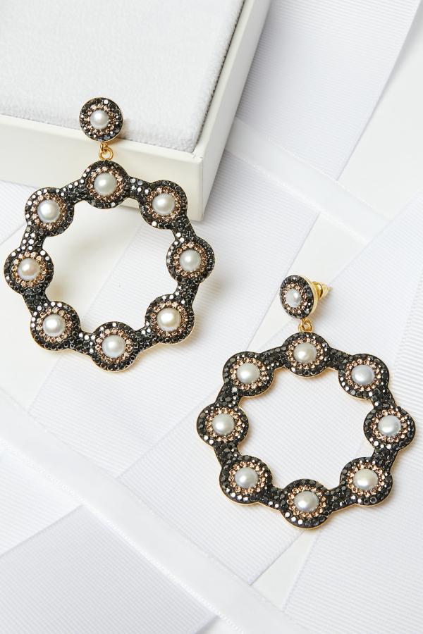 SORU Baroque Pearl Hoop Earrings 5