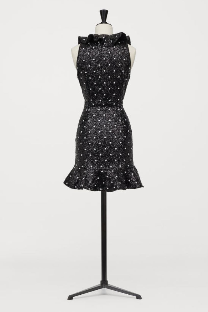 GIAMBATTISTA VALLI x H&M Sequin Mini Polka Dress 2 Preview Images