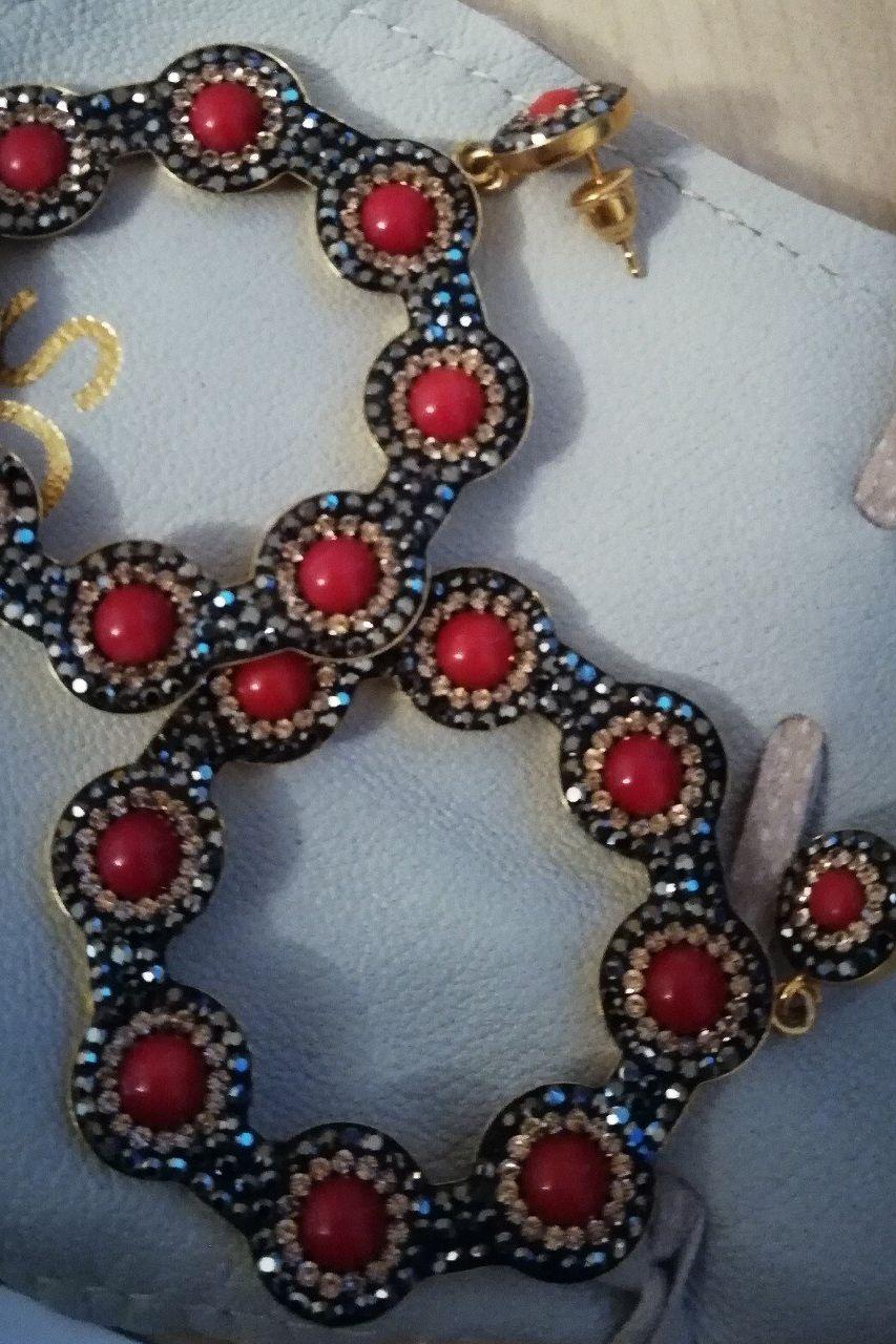 Soru London Onyx Red Hoop Earring Preview Images