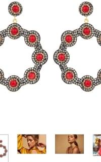 SORU Onyx Red Hoop Earring 2 Preview Images
