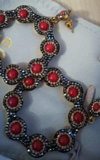 SORU Onyx Red Hoop Earring Preview Images