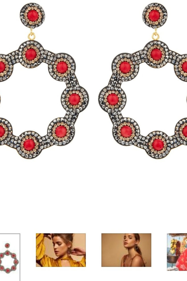 SORU Onyx Red Hoop Earring 2
