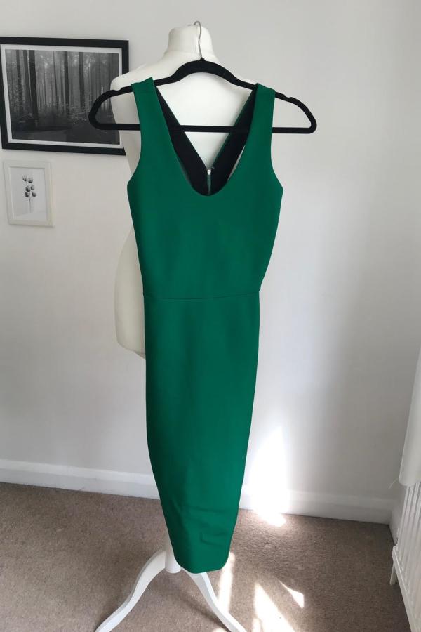 Victoria Beckham V-Back Ponte Sheath Dress 5