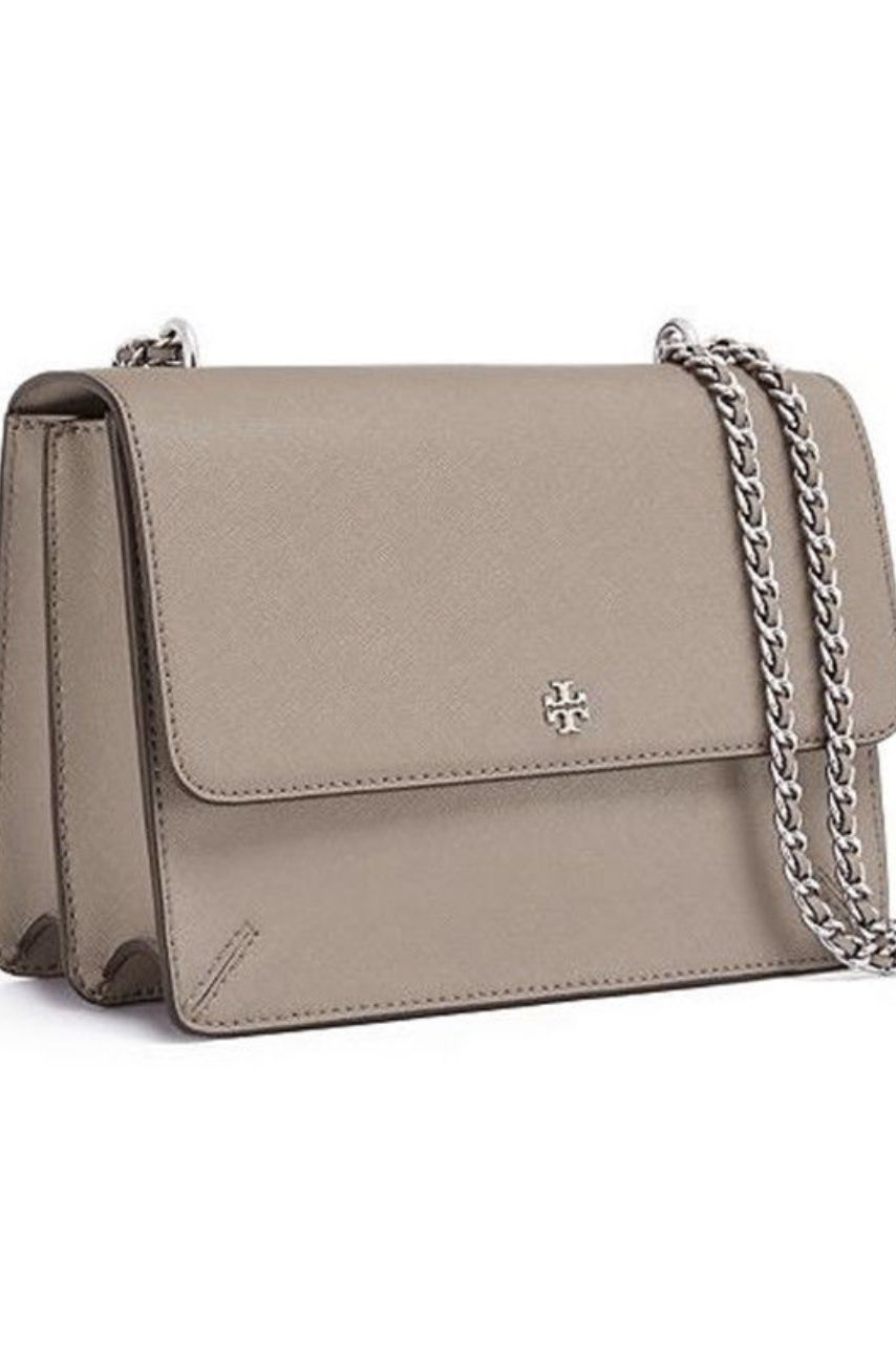 Tory Burch Robinson Convertible Leather Shoulder Bag 2 Preview Images