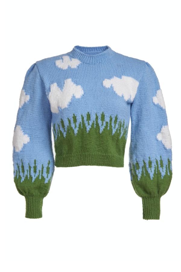 Image 1 of Lirika Matoshi clouds knit sweater