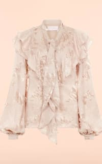 Peter Pilotto Fringe jacquard frill blouse 2 Preview Images