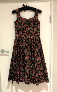 Dolce & Gabbana Rose Print Dress 2 Preview Images
