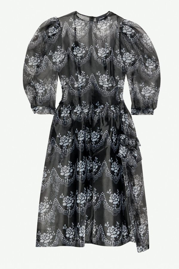 Simone Rocha Floral Organza Dress