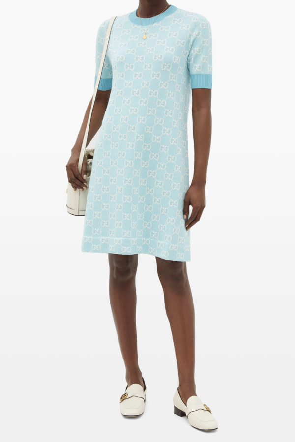 Gucci GG-jacquard wool mini dress 1 Preview Images