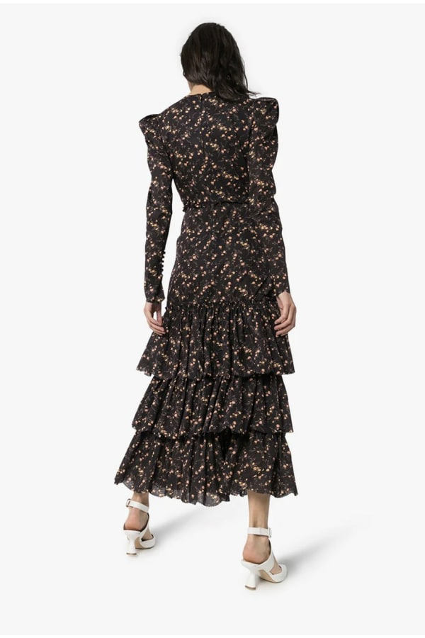 Image 4 of The Vampire's Wife liberty floral ruffle dress