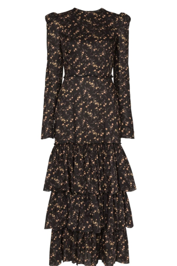 Image 1 of The Vampire's Wife liberty floral ruffle dress