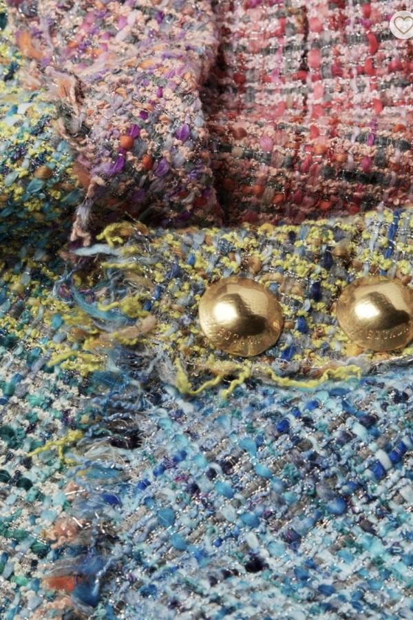Escada Dalira Multicolor Tweed Midi Dress 3