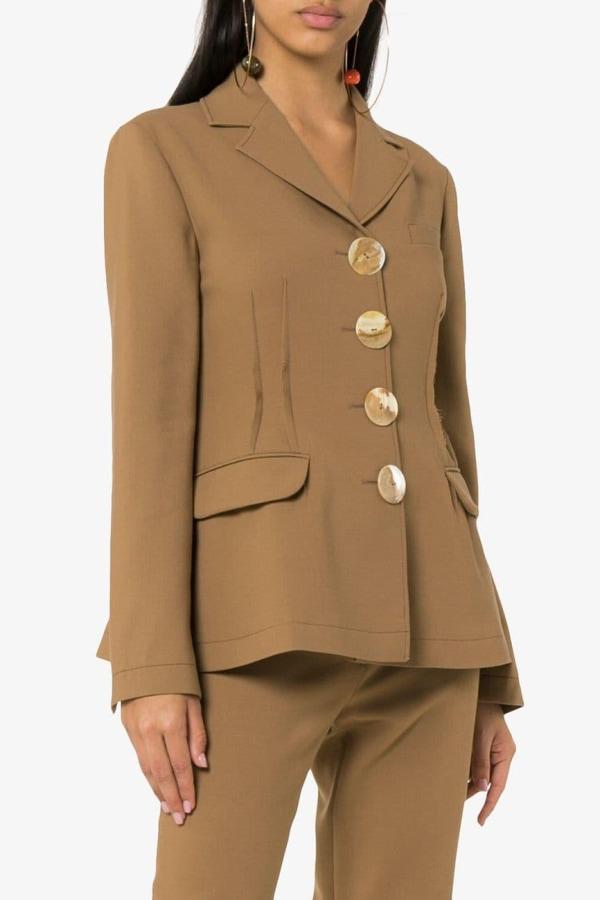 Image 4 of Rejina Pyo etta wool-blend blazer