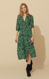BA&SH Elfe floral-print woven midi dress 3 Preview Images
