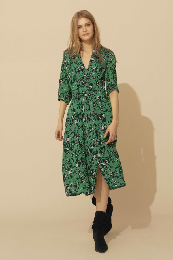 BA&SH Elfe floral-print woven midi dress 3
