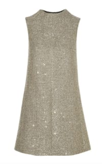 Saint Laurent Sequin metallic tweed dress Preview Images