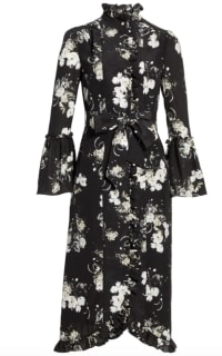Erdem Ruffle midi dress belted Preview Images