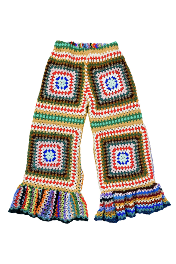 Image 1 of Magpie Vintage granny crochet trousers