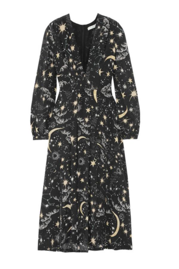 RIXO London Camellia silk crepe midi dress