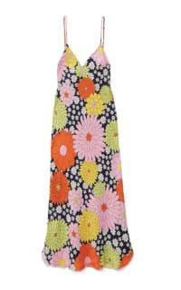 Dodo Bar Or Cora floral-print silk-jacquard dress Preview Images