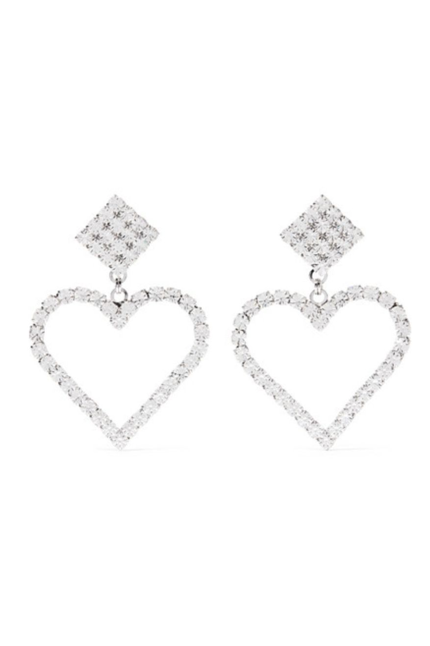 Alessandra Rich Crystal Clip Earrings Preview Images