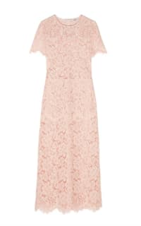 Ganni Duval corded lace midi dress Preview Images