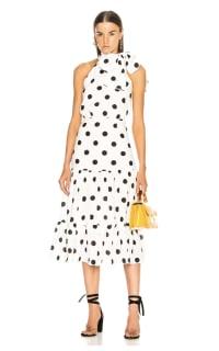 RIXO London Polka Dot Midi Dress 3 Preview Images
