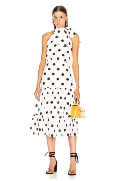 RIXO London Polka Dot Midi Dress 3