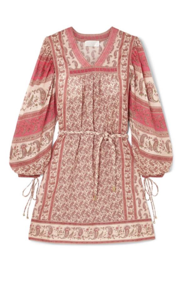 Zimmermann juniper paisley dress