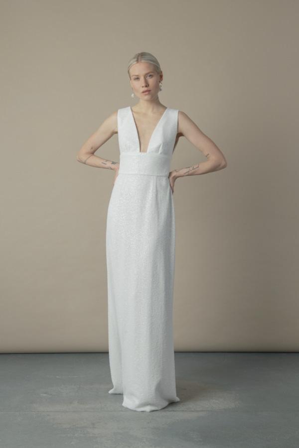Image 1 of The Own Studio sequin column dress