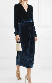 The Attico Midnight crushed velvet dress 3 Preview Images