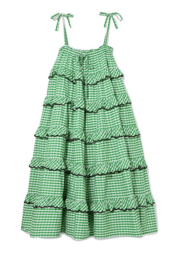 Image 1 of Innika Choo tiered embroidered dress